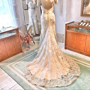 OMBRÉ Ivory to Champagne LACE Wedding 👗